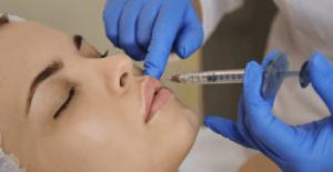 Women getting lip filler at L'atelier Aesthetics in Harley Street