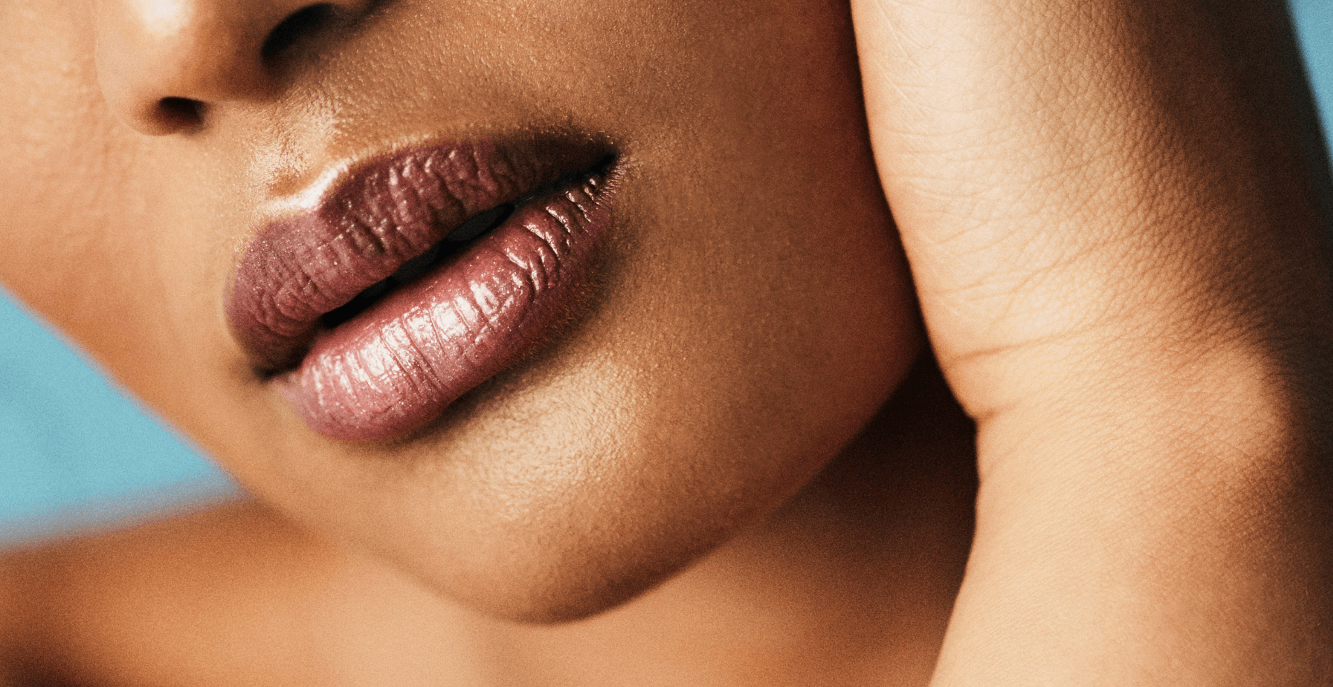 Close up of lip fillers at L'atelier Aesthetics in Harley Street