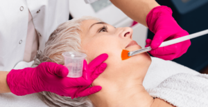 Women receiving a facial at L'atelier Aesthetics in Harley Street